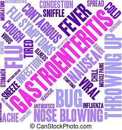Gastroenteritis word cloud on a white background.
