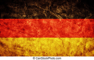Germany grunge flag. Vintage, retro style. High resolution, hd quality. Item from my grunge flags collection.
