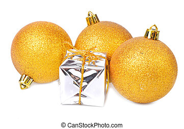 Golden christmas decoration and gift