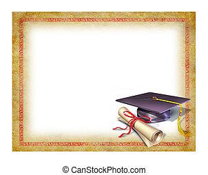 Graduation blank diploma