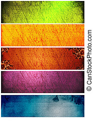 Great grunge textures and backgrounds for banners