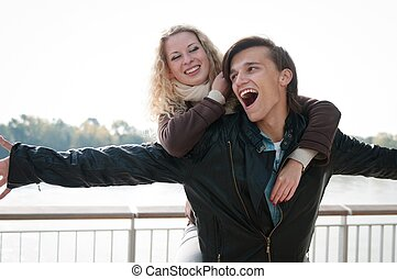 Great time - young couple together