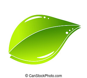 Abstract green nature eco concept