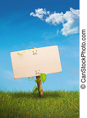 green sign - eco friendly communication