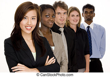 A diverse group of individuals make this business team