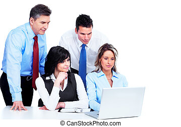 Group of business people working.