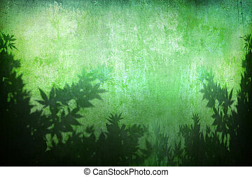 grunge abstract turquoise plant background