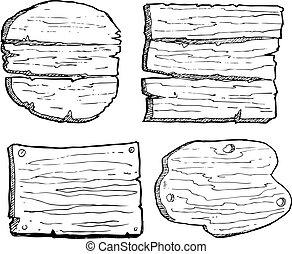 grunge wooden plank isolated on white background