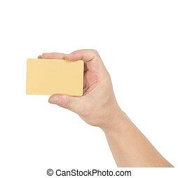 Hand bank card