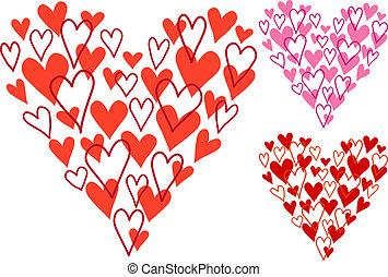 hand drawn heart, vector