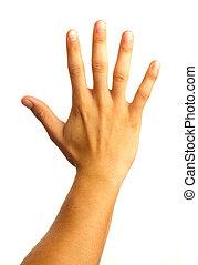 hand five