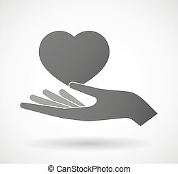 Hand giving a heart