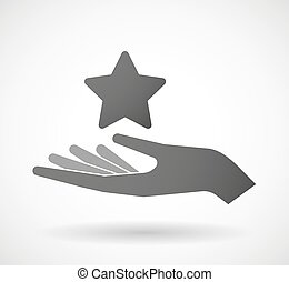 Hand giving a star