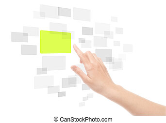 Hand Using Touch Screen Interface