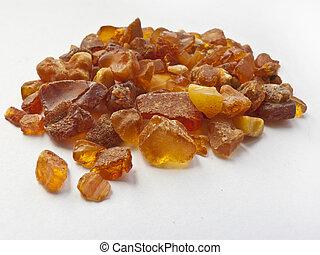 handful of amber