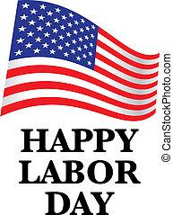 happy labor day us flag - illustration