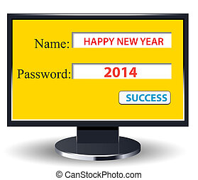 happy new year 2014 retro with comp