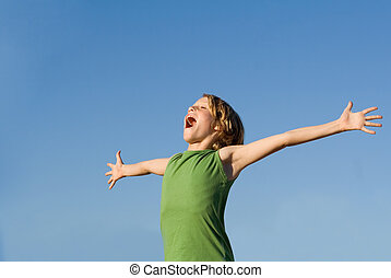 happy summer kid singing