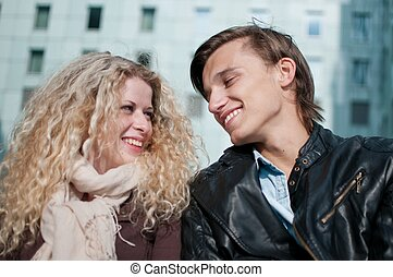Happy young couple together