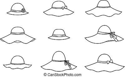 Vector illustration of women's hat
