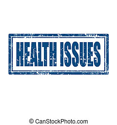 Grunge rubber stamp with text Health Issues, vector illustration