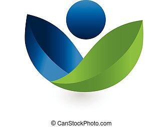 Health Nature logo vector