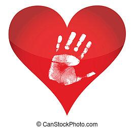 heart and handprint illustration