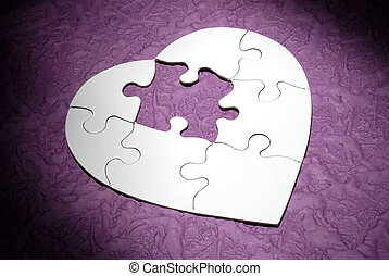 Photo of a Heart Shaped Puzzle Missing a Piece