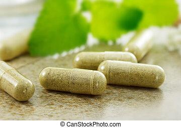 Close up image of herbal medicine