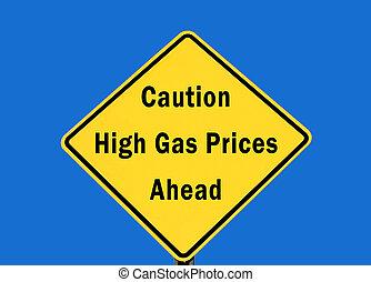 High gas caution
