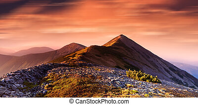 high hill in carpathians mountains