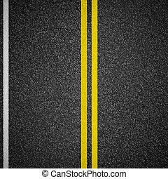 highway asphalt road top view