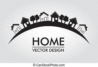 home design over lines background vector illustration