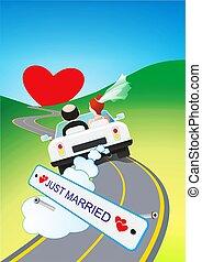 Honeymoon Trip Illustration