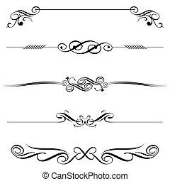 Vector file of horizontal elements decoration design.