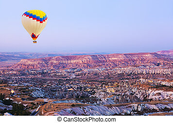 Hot air balloon over Cappadocia
