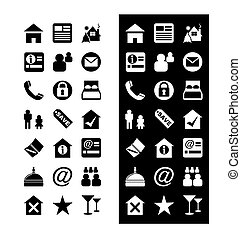 Hotel Icons - Icon Set Vector