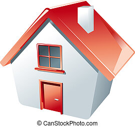 House icon isolated on white as a symbol of real estate