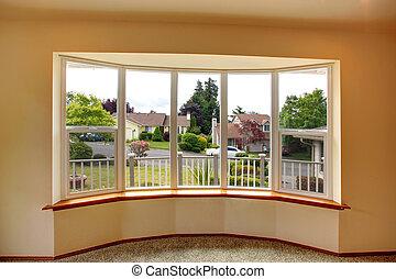 House interior. Window view