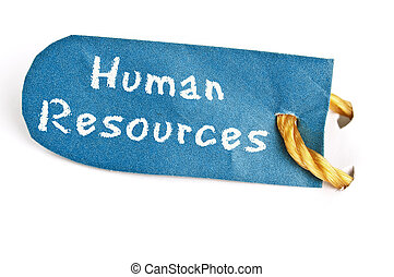 Human Resources word on label