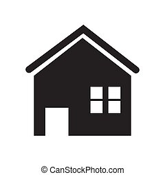 icon vector house or home flat design for app ads web banner button isolated white background.