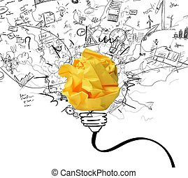 Concept of new idea and innovation concept