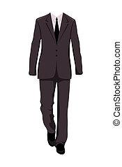 Illustration male business suit, design elements - vector