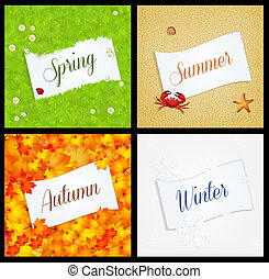 four season postcard