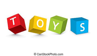 illustration of toy blocks - vector illustration