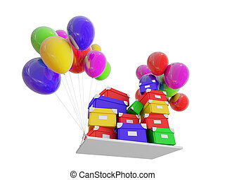 gifts on COLOR balloons.