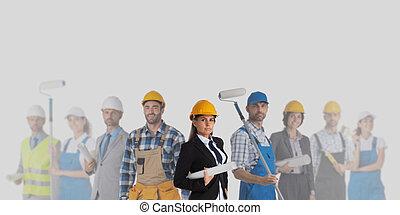 Industrial contractors workers