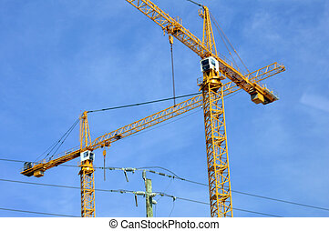 Industrial crane for skyscrapers buildings construction picture