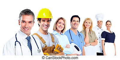 Industrial workers.