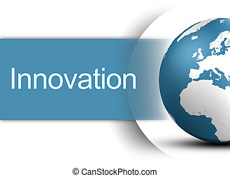 Innovation concept with globe on white background